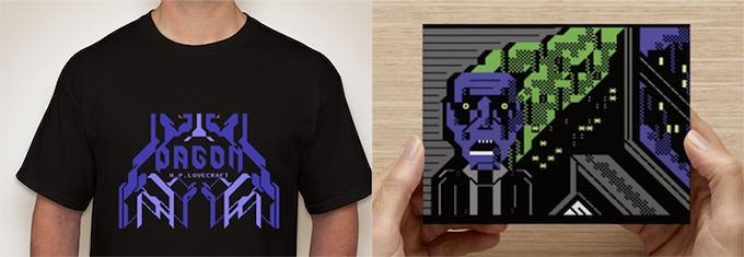 T-shirt & Postcard sample