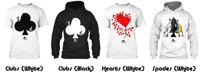 Preview of the Tshirts and Hoodies available