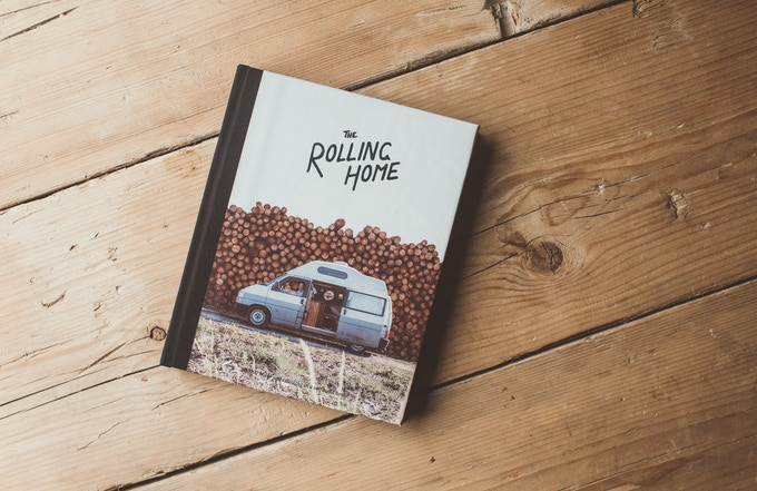The Rolling Home Book - Advance copy (cover graphics will be gold foiled in delivered book)
