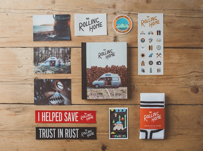 The Rolling Home book + rewards.