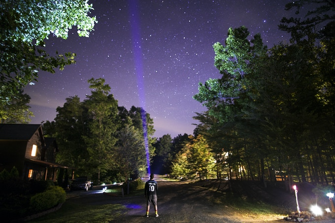 The Vis shooting for the stars in the Blue Ridge Mountains GA.
