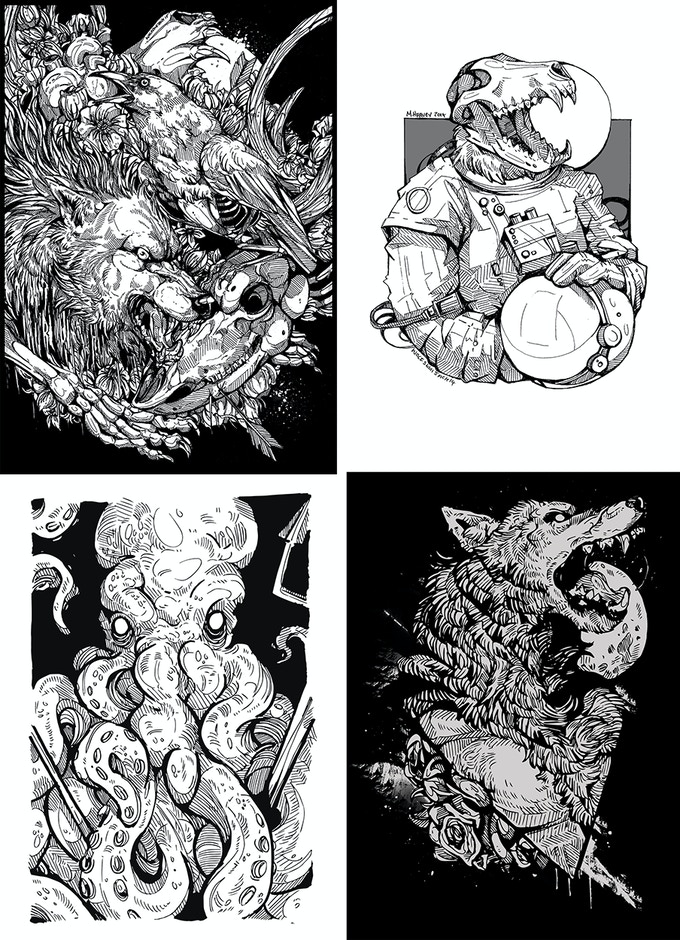 Examples of some of the images inside the book