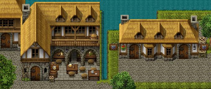 Inn and battle shop