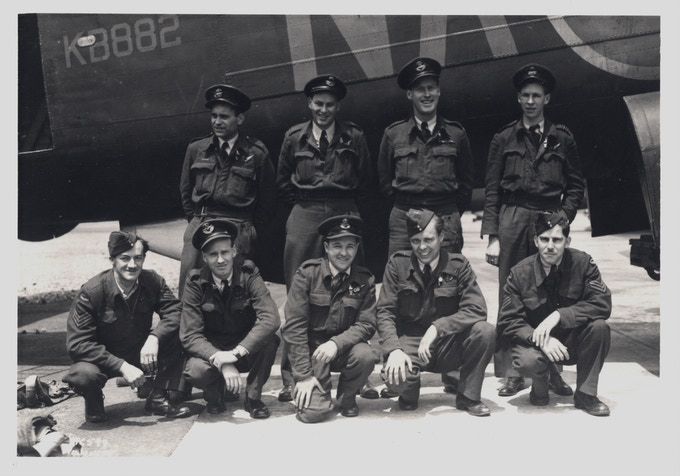 KB882's 428 Squadron crew upon return to Yarmouth, Nova Scotia, Canada. June 10, 1945.