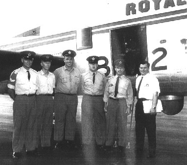 KB882's final flight crew. Edmundston, NB July 14, 1965.
