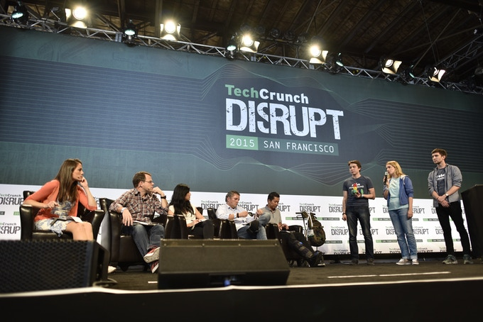 Launch of Robo Wunderkind on TechCrunch Disrupt, Photo by Jeff Bottari for TechCrunch