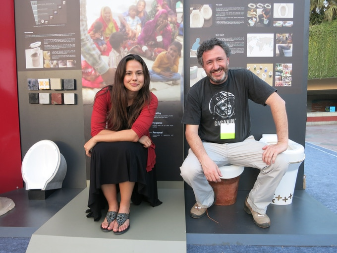 Director Lily Zepeda and Producer Tchavdar Georgiev at the Bill & Melinda Gates Toilet Fair in India