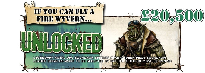 Bogglez-Wurf the Orc Wyvern Pilot has been Unlocked! NOW FREE WITH ALL SERGEANT PLEDGES AND ABOVE!