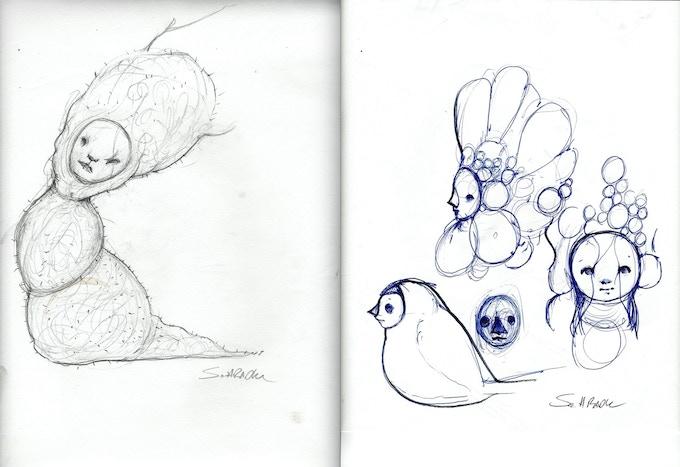 sample sketches from Scott's sketchbook