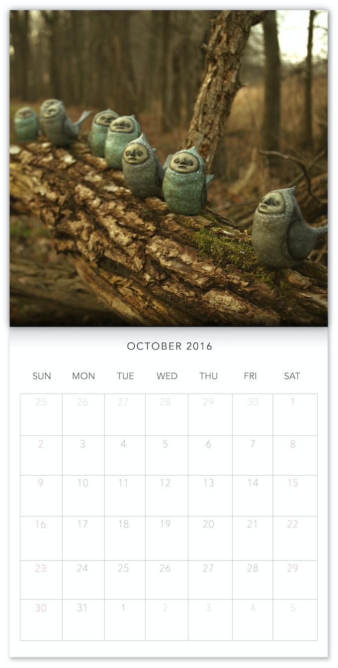 Mock up of 2016 Calendar