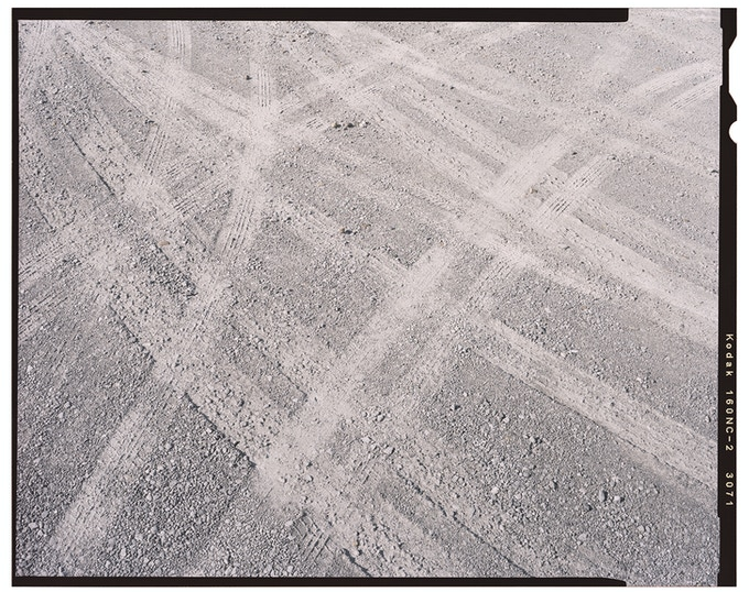"Denny Renshaw / PRINT 3 / Title: ""Untitled (Tracks)"" / Size: 11.7"" x 16.5"""