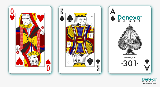 Queen of Hearts, King of Spades, and Ace of Spades.