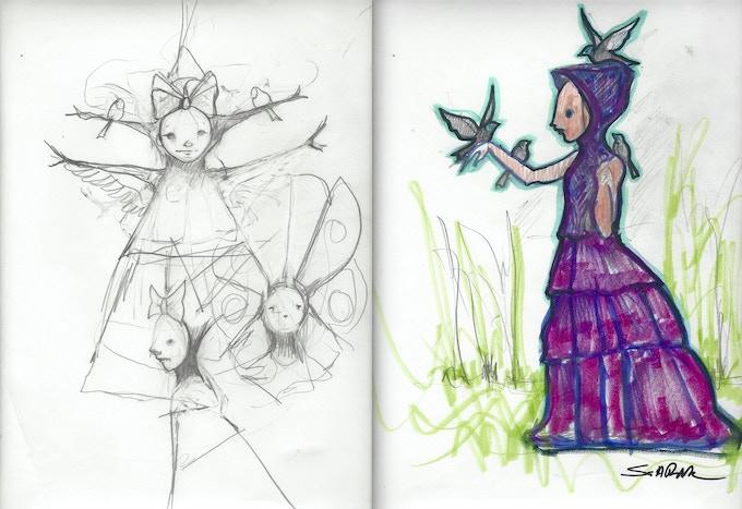 sample Sketch's from Scott's sketchbook