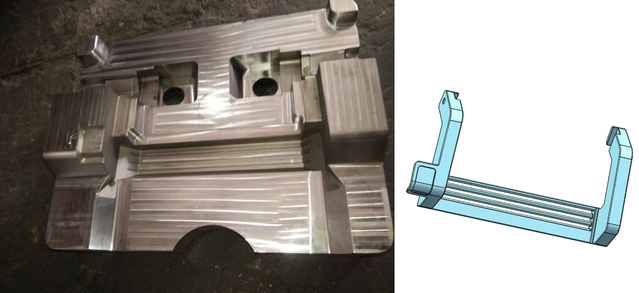 Die casting mold for the foot lever