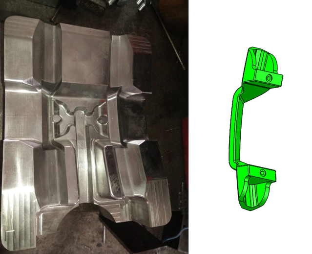 Die casting mold for the door handle