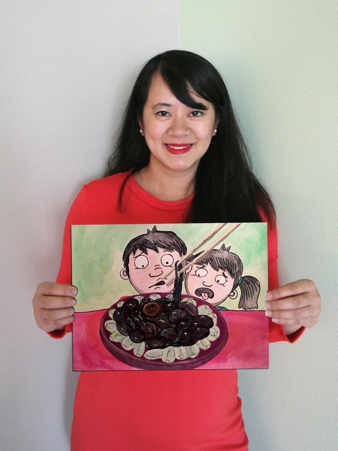 Amy and art from the book! (Fungus)