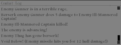 An excerpt from the combat log.
