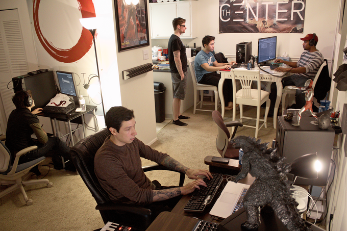 Studio Daisho office during a Game Jam.