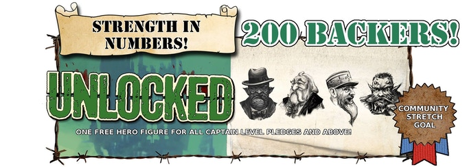 All Backers of Captain Level or above may select 1 Free Hero (£8 Model)!
