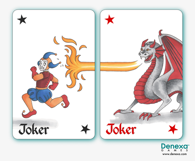 The jokers can be placed together to form one image.