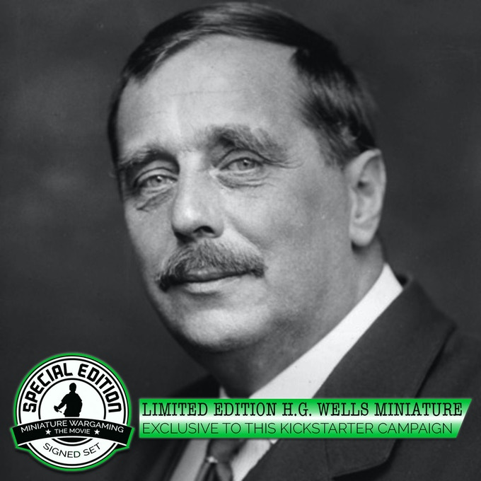 """H.G. Wells author of """"Little Wars""""rules for miniature gaming."""