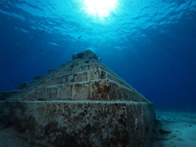 yonaguni pyramids, these were sunk by the bear death god