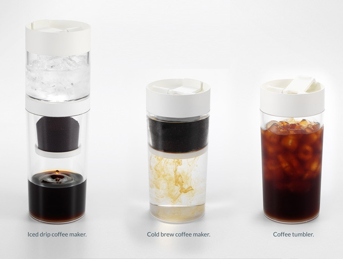 Dripo - 3-in-1 Iced-drip coffee maker and tumbler.