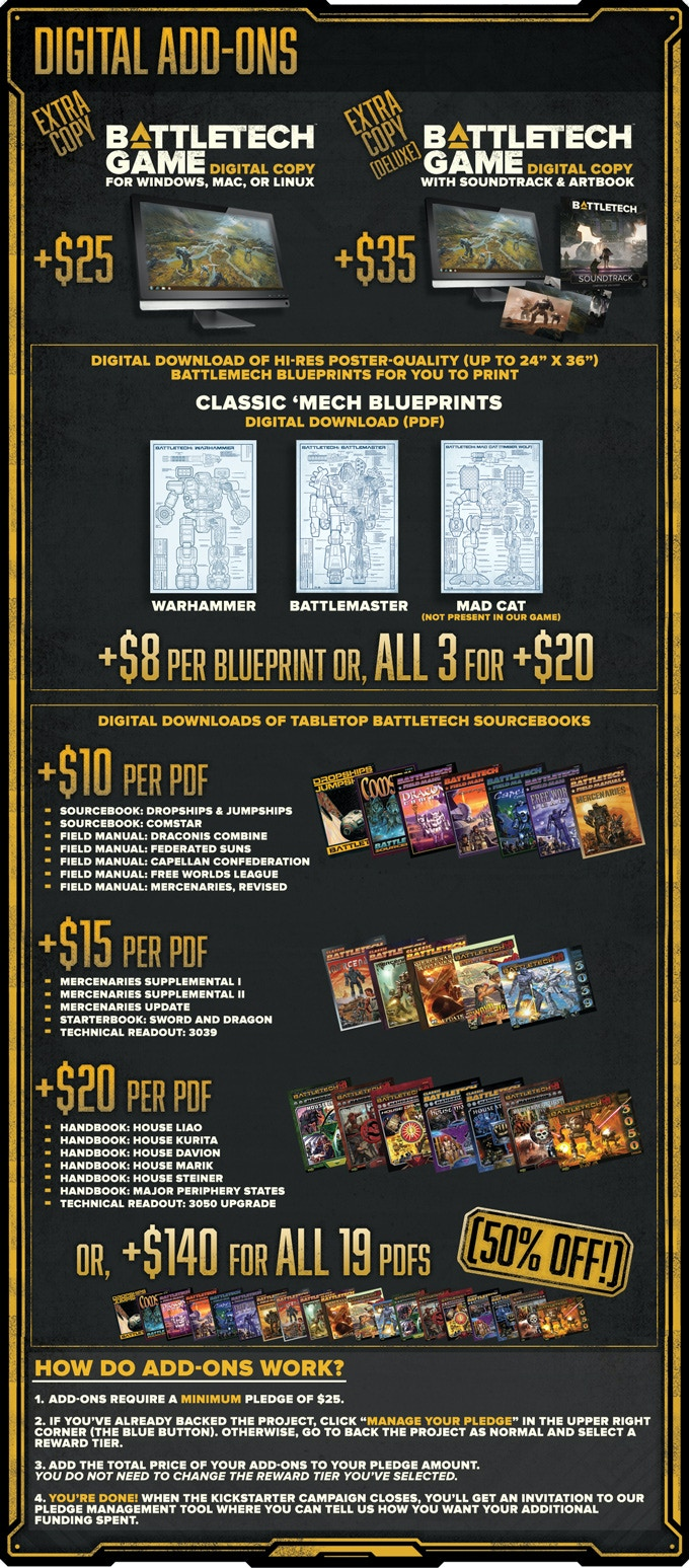 Battletech by harebrained schemes llc kickstarter to encourage everyone to get involved and share their passion for the battletech universe weve created a set of missions for you to collectively complete fandeluxe Choice Image