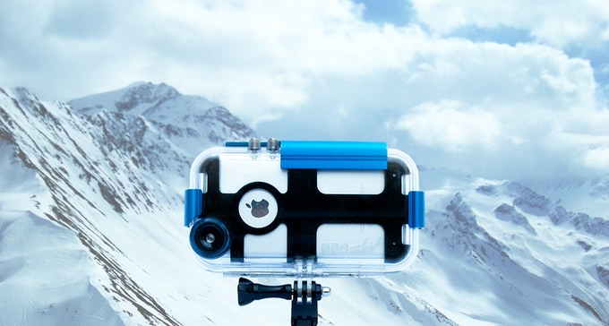how to put gopro into case