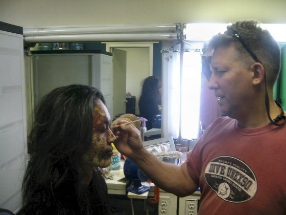 Dean Jones created the special makeup FX for the original Horribly Slow Murderer short film.