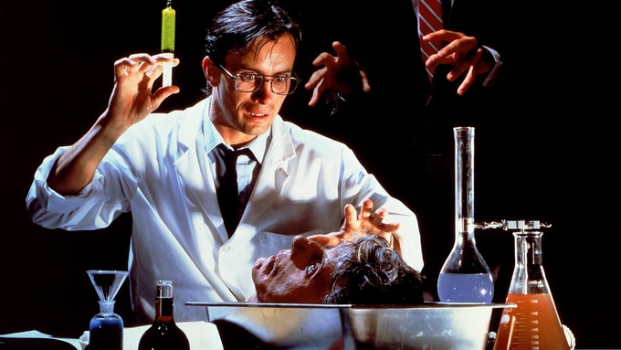 Jeffrey Combs starred as Dr. Herbert West in Stuart Gordon's horror classic RE-ANIMATOR