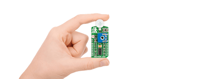 The MOTION Click sensor board