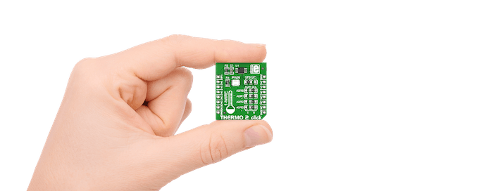 The THERMO 2 Click sensor board