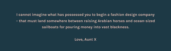 If for no other reason than to prove Aunt X wrong, we hope you'll support our campaign.