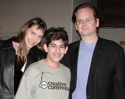Lisa Rein, Aaron Swartz, & Larry Lessig -- Creative Commons 2002