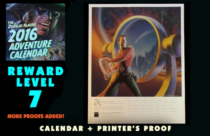 Signed Calendar and Signed Printers Proof for 2009 Adler Planetarium Calendar featuring Buck Rogers