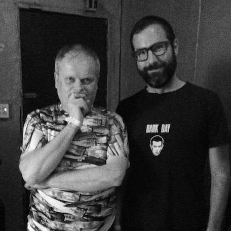 Dark Entries founder Josh Cheon with Tom Ellard of Severed Heads