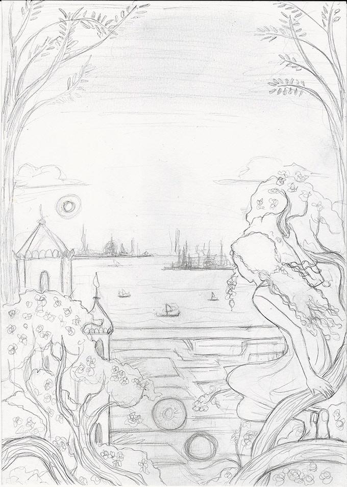 Kate Baylay's Cover Art Sketch for The Imlen Bastard