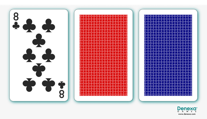 Typical number card and back design.