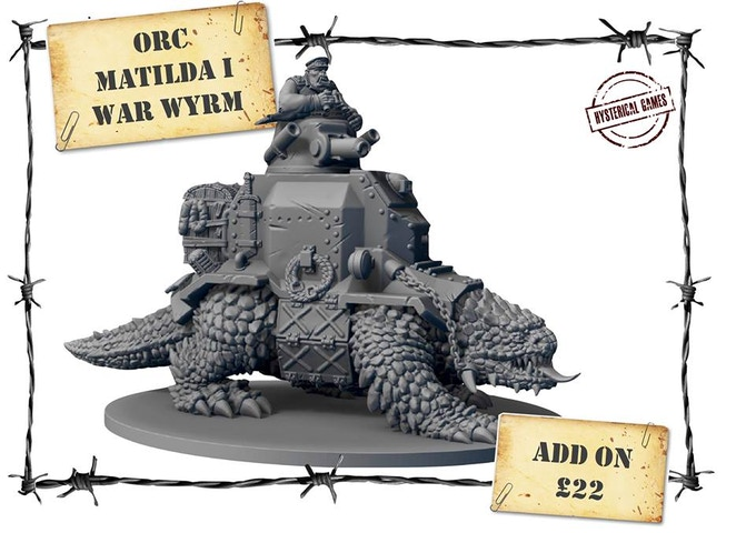 x1 LARGE Resin miniature! No base supplied, as it will not be required! (ONLY available as an add-on for £22, RRP = £30)