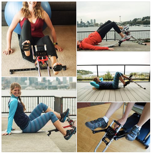 Excy is the most versatile and effective total body portable exercise cycling system in the world
