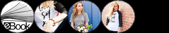 """My lean closet"" eBook + bracelet + (2) Limited edition Kickstarter tees, handmade by our beautiful artisans in Nepal = $95"