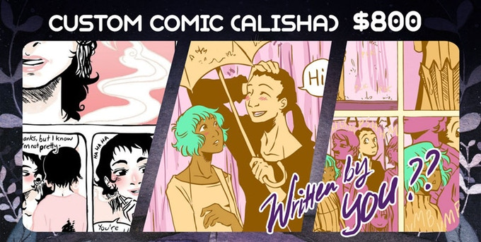 The book, and Alisha will draw an 8-page comic under YOUR direction. Plus the digital copy!