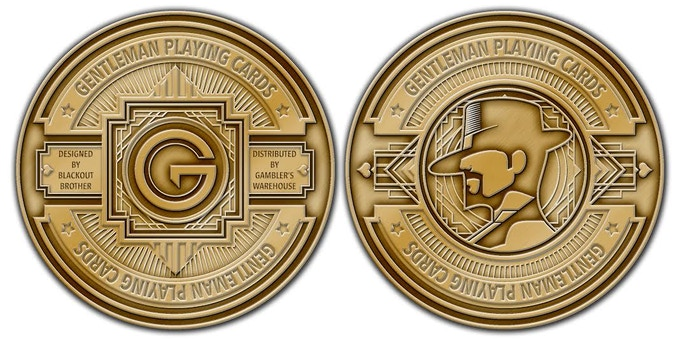 Antique Gold Finish Gentleman Coin