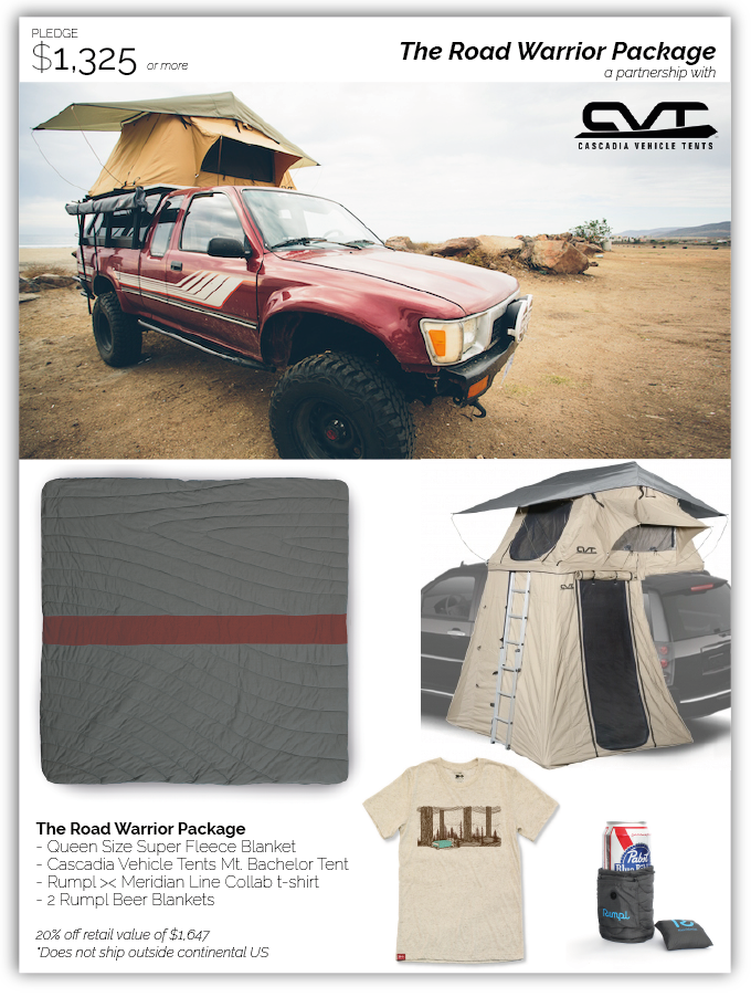 Big thanks to Cascadia Vehicle Tents for their support of The Road Warrior Package!