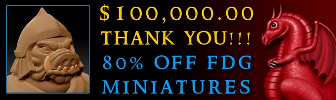BONUS: 80% discount on all FDG 3D printer 28mm miniature packs through the end of 2016!