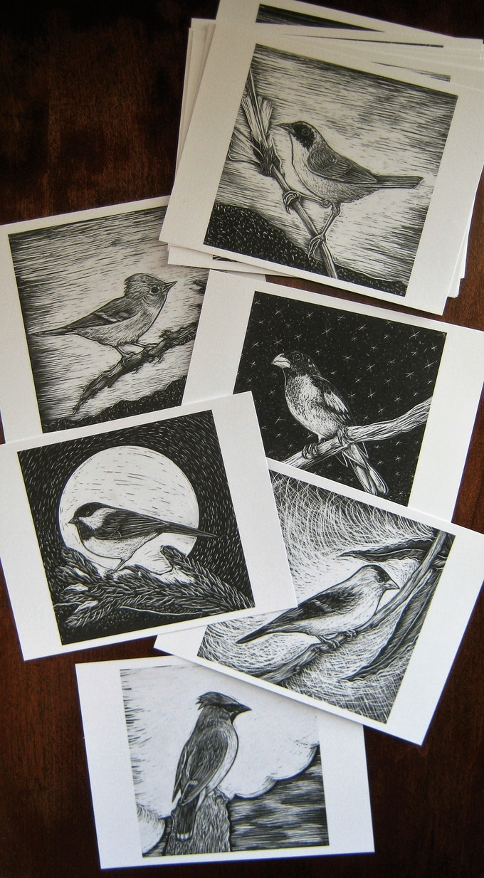 17 Lil' Bird Postcards available for $20 pledge