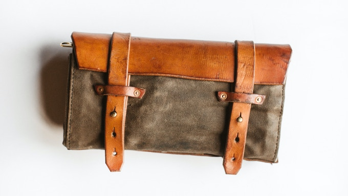 Character and style. This tool roll has spent over 3,000 miles of daily use on the road