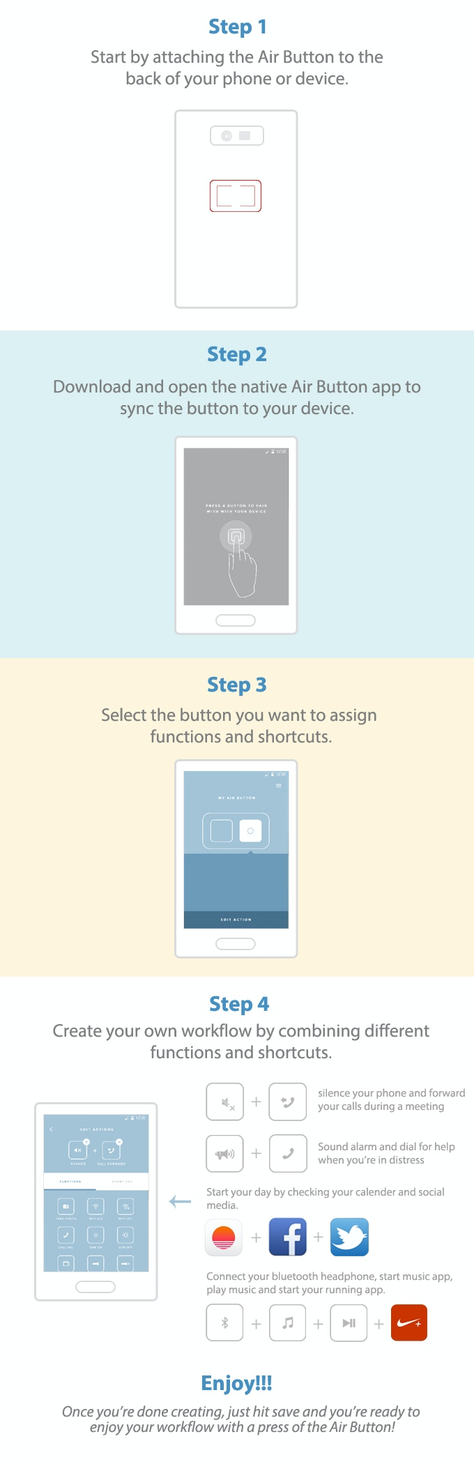 Air Button - The Last Button You'll Need for Your Mobile by