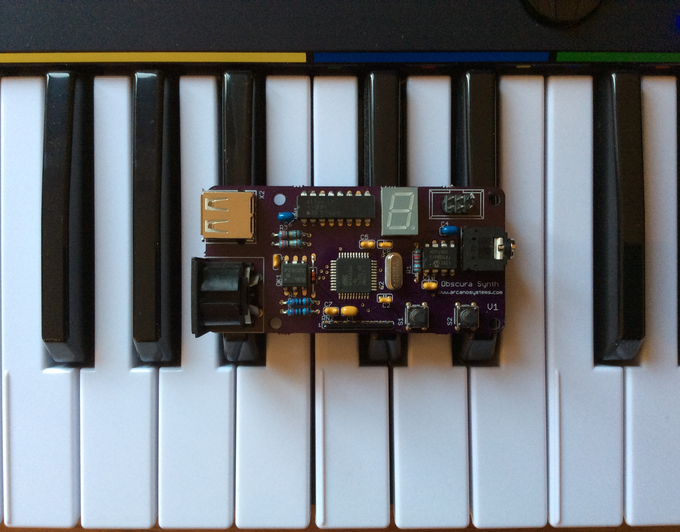 First PCB prototype of the Obscura 8-bit Synth